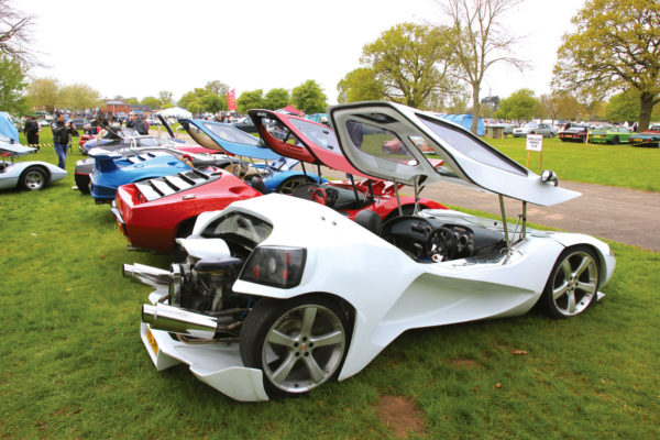 Once the dream machine in the early days of the kit market, Beetle-based Novas, Sterlings and Eurekas still appear at Stoneleigh for their annual meeting, and they have a following in the U.S. as well.