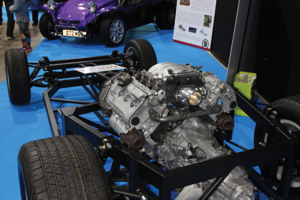 Pie Valley's replacement chassis for Beetle-based kit cars began with MGF/TF donor components, but has recently evolved to an Audi V6 and inline transaxle.
