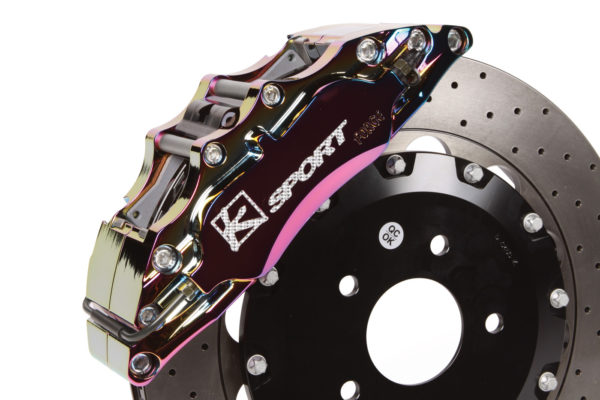 Developed by Ksport Suspension, these polished, forged, aluminum brake calipers offer better heat dissipation, more protection against rust and the elements.