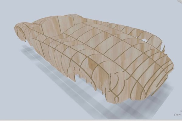 The team was able to produce a wooden buck design from data collected from the 3D rendering process.