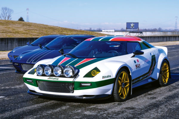 To further evoke the look of the original Stratos, 