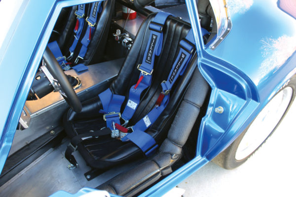 Custom seat designs allow for a taller driver, even while wearing a helmet.
