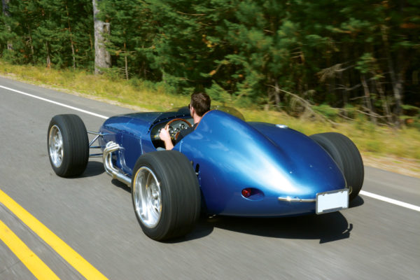 The Brickyard-inspired tail section was a custom 