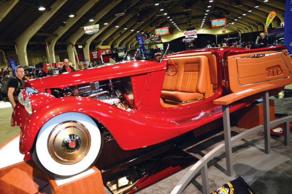 Mulholland Speedster, a 1936 Packard Roadster built by Troy Ladd and owned by Bruce Wanta.