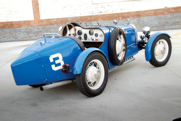 The Type 35B Bugatti body's distinctive tapered lines frequently get a thumbs-up from onlookers.
