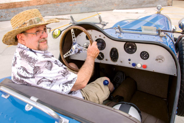 Owner/restorer Lyle Kruger relishes driving his Bugatti replica to various events.