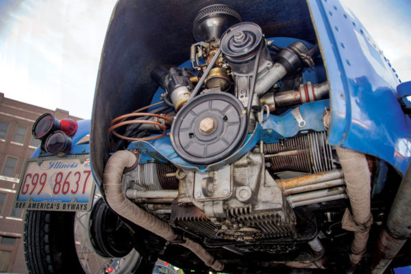 After driving the car for a couple of years, the owner came across a 1972 1,600 cc VW engine at a swap meet for just $75.