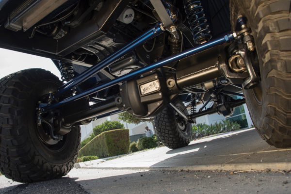 Maxlider Brothers Customs fabricated a custom chassis fitted with a four-link front, along with an Atlas 2 transfer case from Advance Adapters.