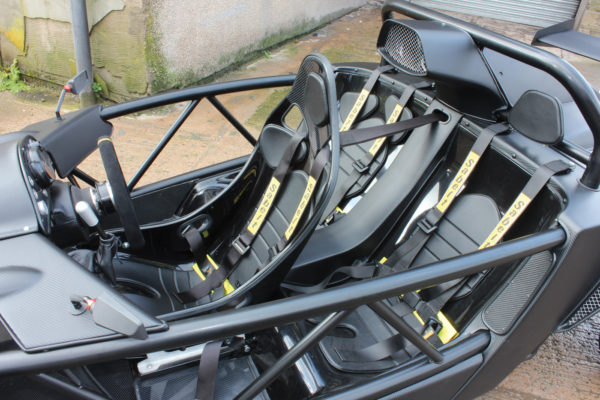 The V-Storm's unusual interior setup provides seating for three people while giving the driver plenty of legroom.