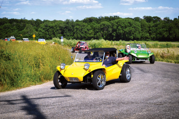 While most Manx dune buggies were for off-roading, the Manx SR was designed for the street, with full weather protection and space for luggage.