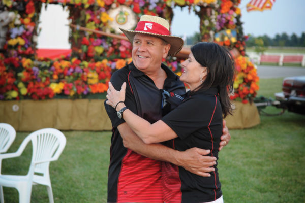 Doin' the Love Bug? Mike and Laurie Yager dance to polka tunes.