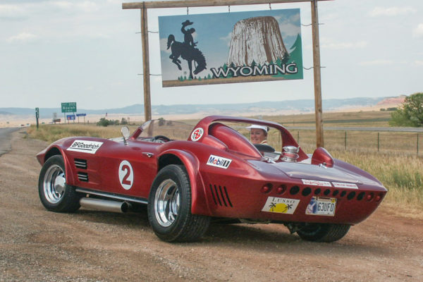The Devil's Tower butte awaited a visit from a divine roadster.