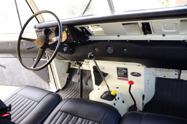 The Series II's original dash is pretty basic, but gets the job done.